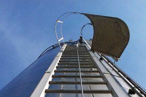 linea de vida vertical para escaleras