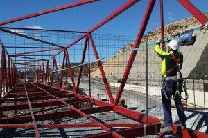 Redes de seguridad horizontales para seguridad en altura