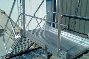 sistemas de protección colectiva sobre una cubierta