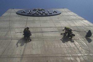 trabajos verticales visto desde abajo