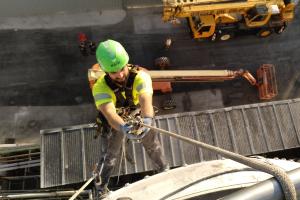 trabajos verticales en el sector industrial