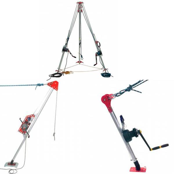 medios auxiliares de elevación y descenso