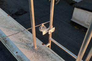 punto de anclaje en escalera
